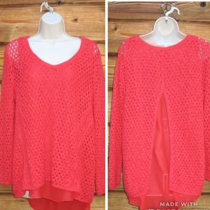 NWT Lucky Brand Red Boho Sweater
